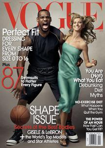 Vogue cover featuring Lebron James and Gisele Bundchen