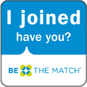 Be the Match marrow donor badge