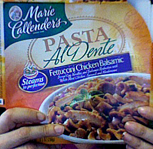 Marie Callender's Fettuccini Chicken Balsamic package