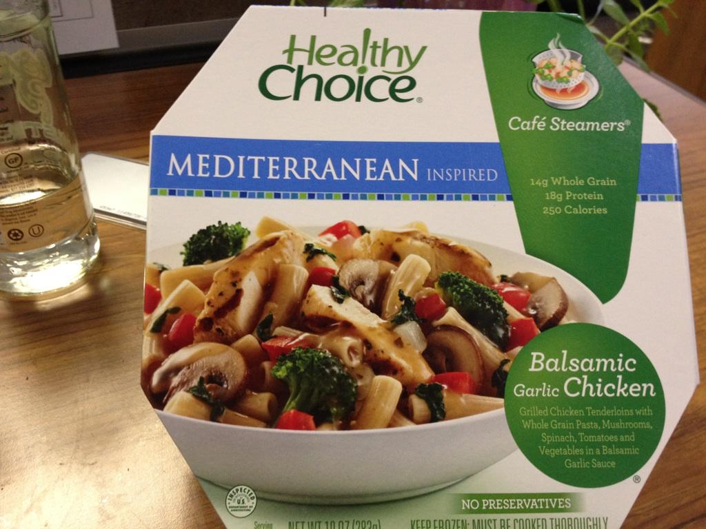 Healthy Choice Balsamic Garlic Chicken, before