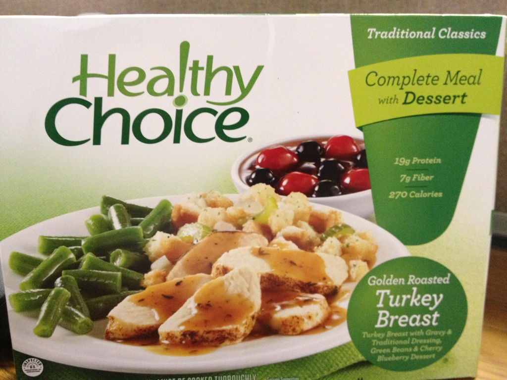Healthy Choice Golden Roasted Turkey Breast, before
