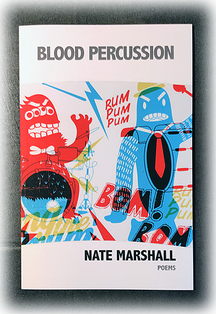 Cover of Blood Percussion, a book of poems by Nate Marshall